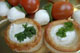Vol au vents filled with cream cheese